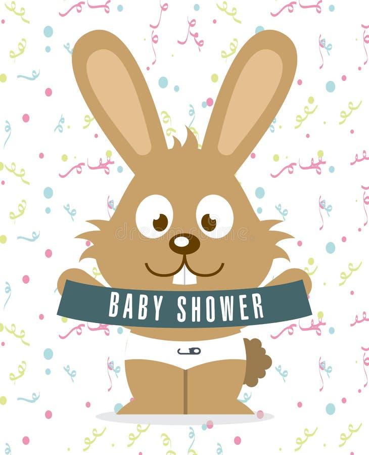 Download Ducha de bebé ilustración del vector. Ilustración de tarjeta - 42427145