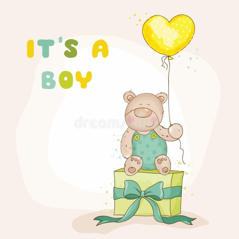 Ducha de bebé o tarjeta de llegada ilustración del vector