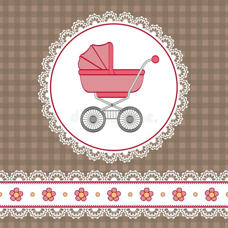 Ducha del bebé ilustración del vector