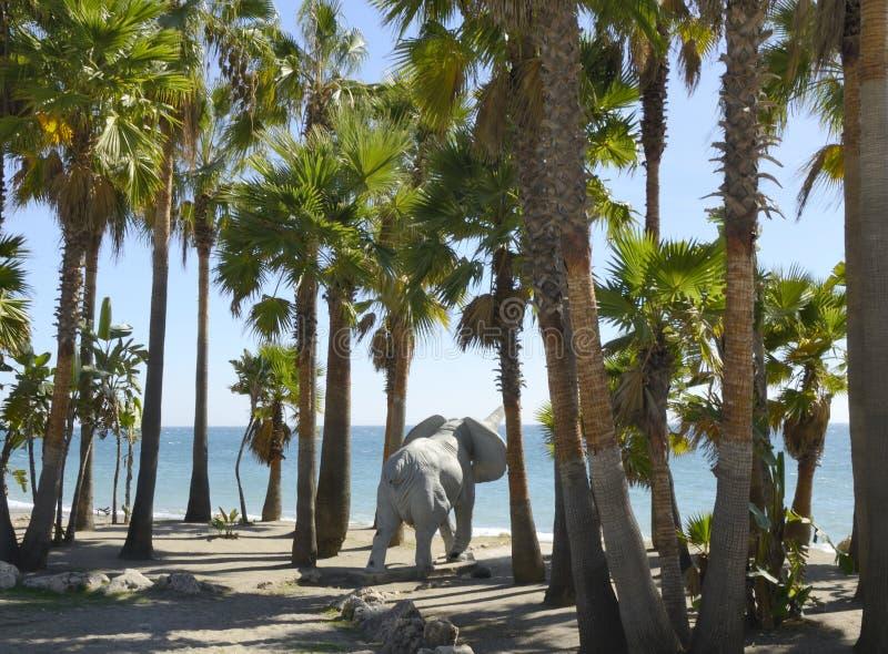 Ducha del elefante imagen de archivo