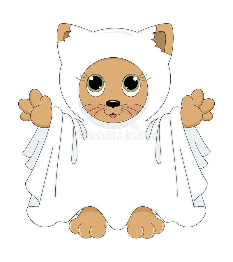Ducha halloweenowy kot ilustracja wektor