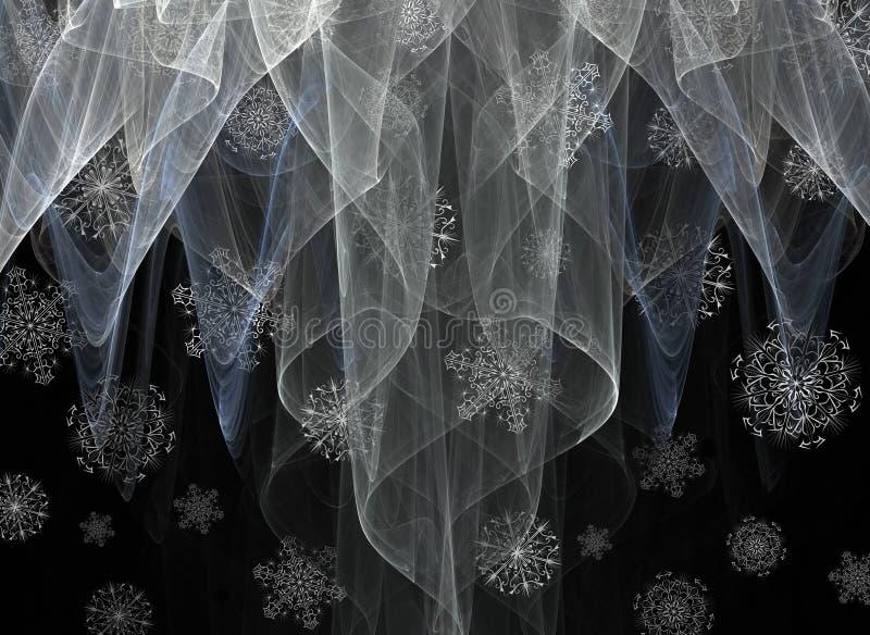 Duchas de nieve ilustración del vector