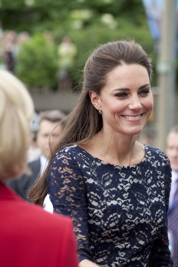 Duchess of Cambridge - Kate Middleton. OTTAWA, ONTARIO, CANADA - JUNE 30, 2011 - A smiling Kate Middleton, the Duchess of Cambridge and wife of Prince William royalty free stock image