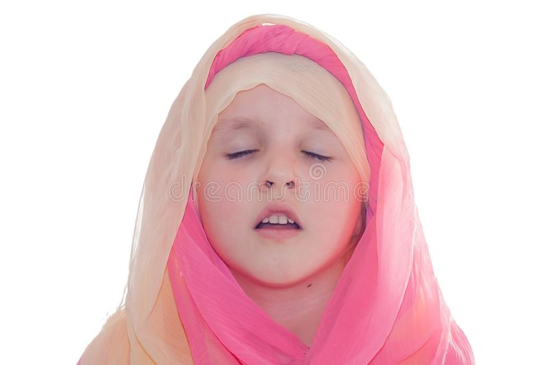 Duchowa edukacja Studiowanie święte pisma Modlitewna książka dla dziecka zdjęcie stock