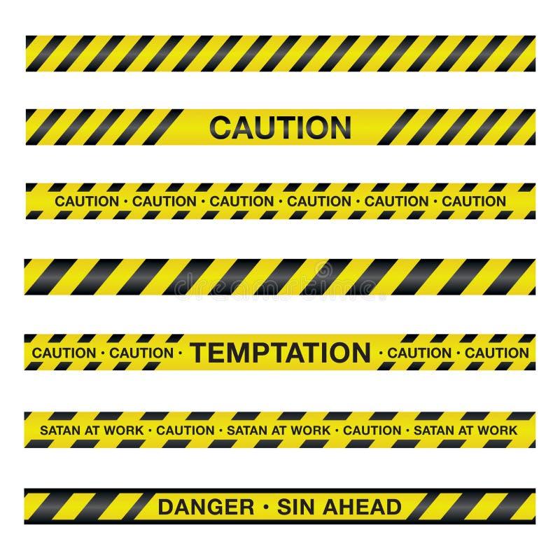 Duchowa ostrożności taśmy ilustracja ilustracji