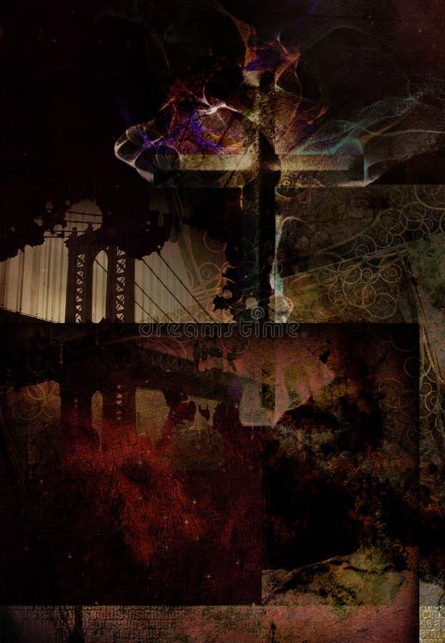 Duchowy miastowy skład ilustracji