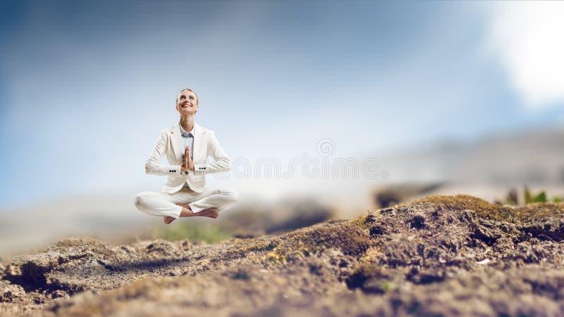 Duchowy stength i równowaga Mieszani środki obraz royalty free