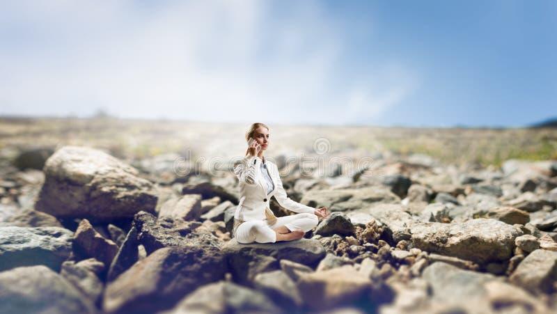 Duchowy stength i równowaga Mieszani środki fotografia royalty free