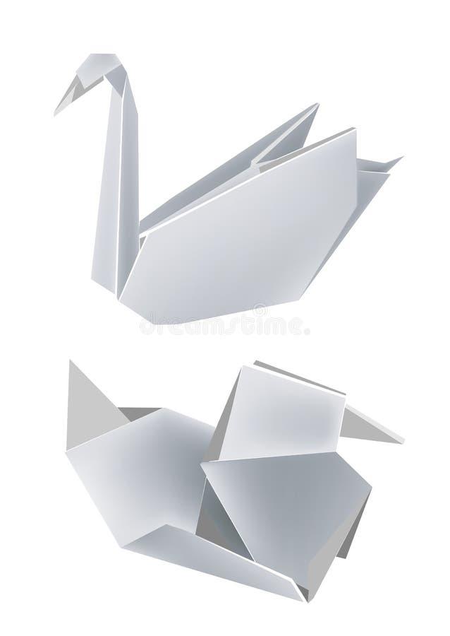 duck бумажный лебедь иллюстрация штока