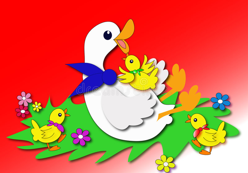 Download Duck stock illustration. Image of meadow, spring, chick - 2079608