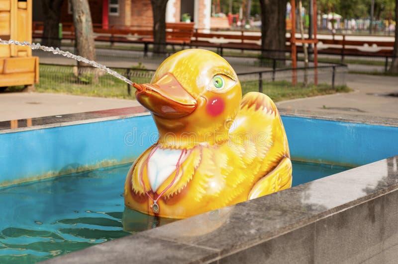 Duck in an amusement park