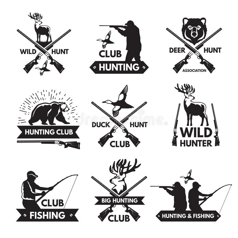 Deer Hunt. Hunting Club Logo In Vintage Style. Vector