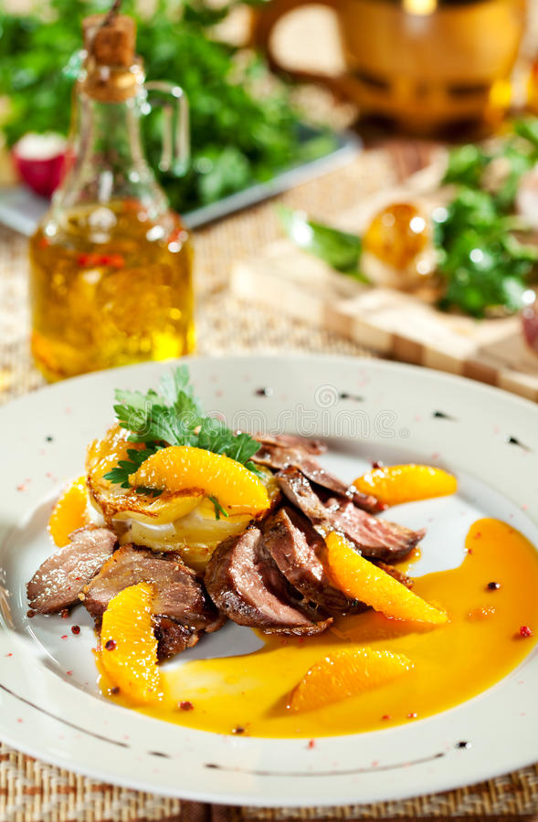 Duck Breast royalty free stock photo