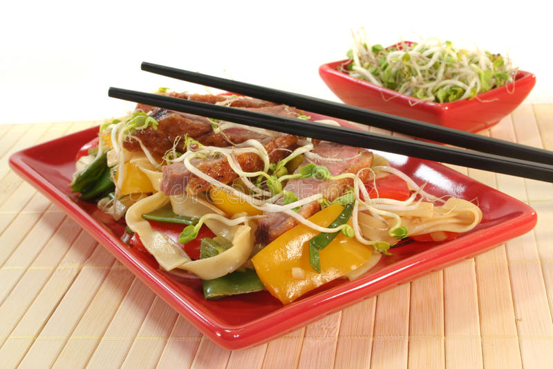 Download Duck Breast With Fried Noodles Stock Image - Image: 18005131