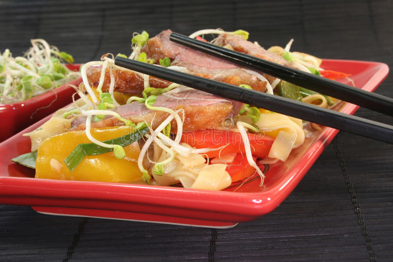 Download Duck Breast With Fried Noodles Stock Image - Image: 18136641