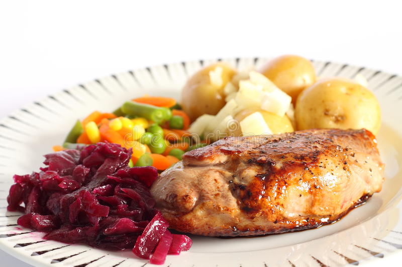 Duck Breast Meal A Stock Photo