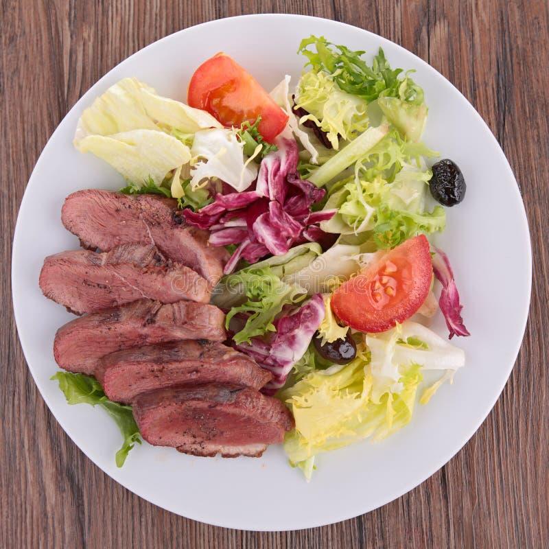 Duck breast salad stock photos