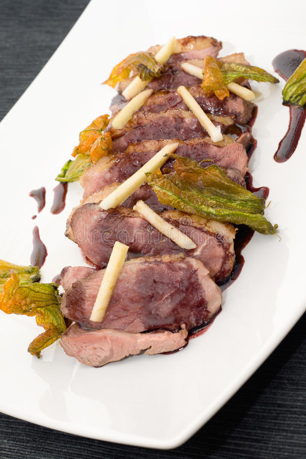 Duck Breasts Served Stock Images
