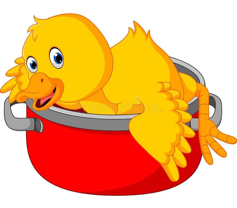 Duck cartoon stock illustration