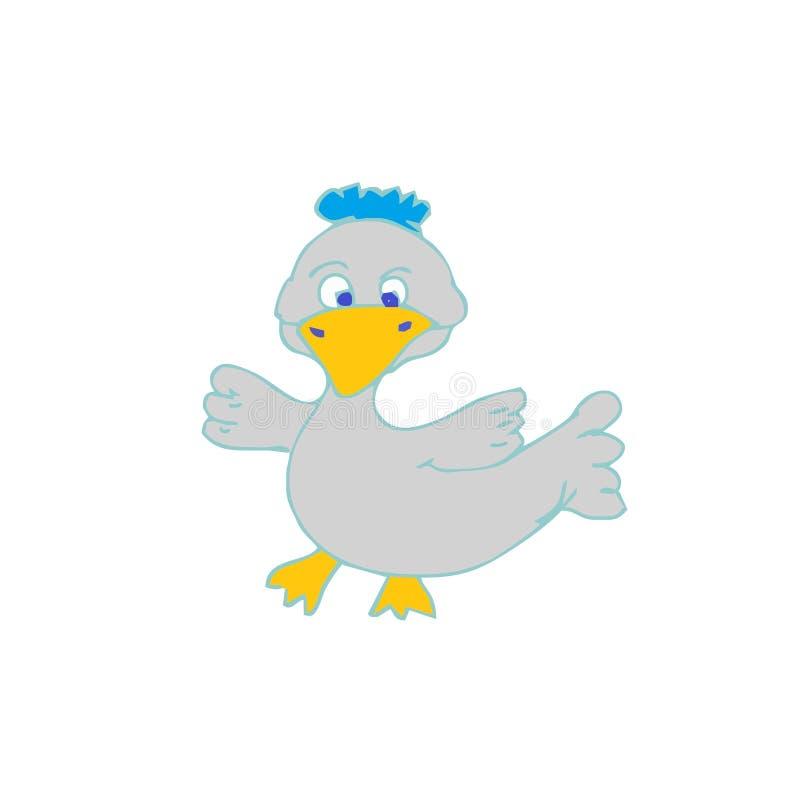 Duck Cartoon Vetora imagem de stock royalty free