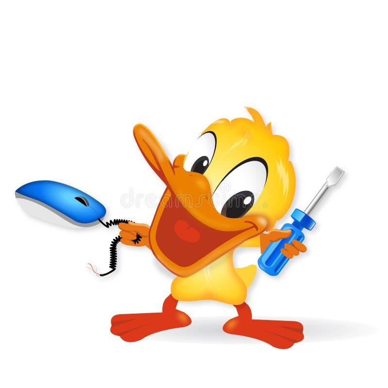 Download Duck - Computer Technick stock illustration. Image of bathe - 23441345