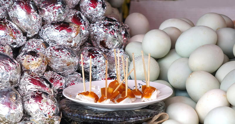 Duck Eggs salado fotos de archivo libres de regalías