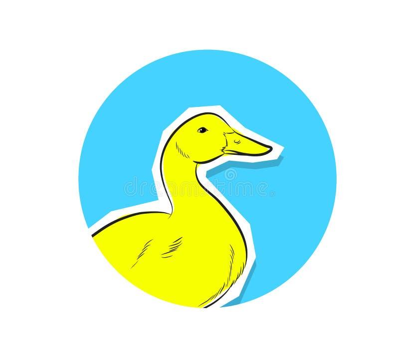 Duck Face Closeup Vector illustrazione di stock