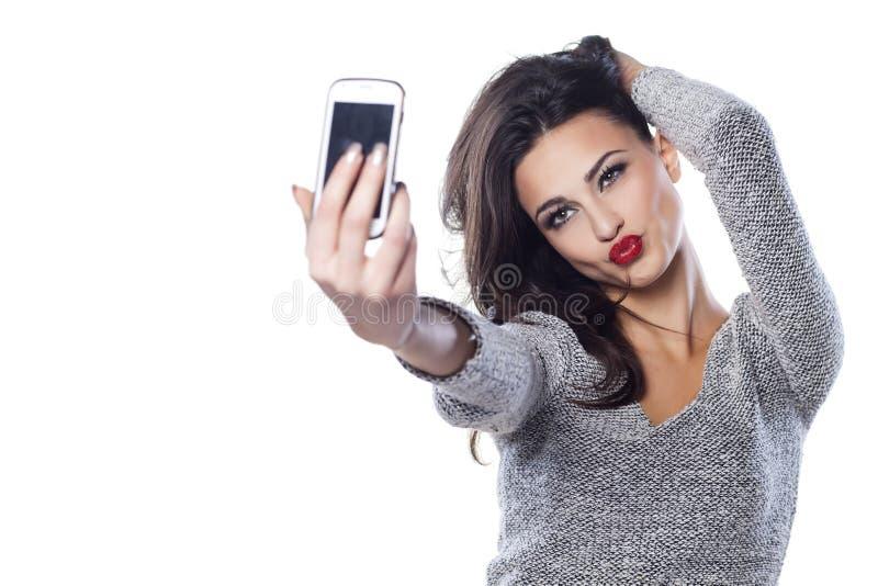 Duck Face Selfie stockfotos