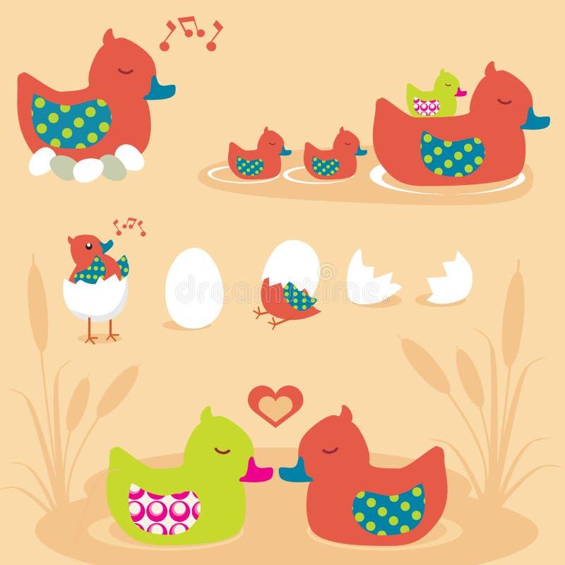 Download Duck Family stock vector. Illustration of bathtub, baby - 10165599
