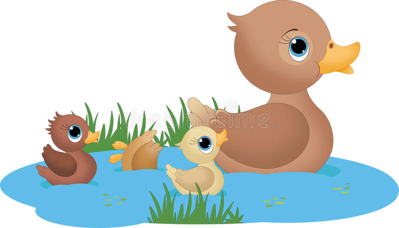 Duck Family vector illustratie
