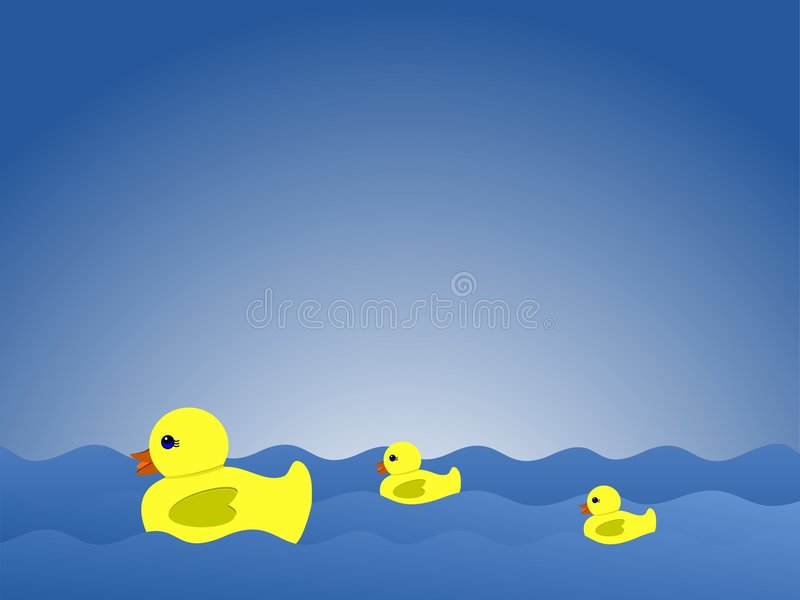 Download Duck family swimming stock vector. Illustration of rubber - 8232052