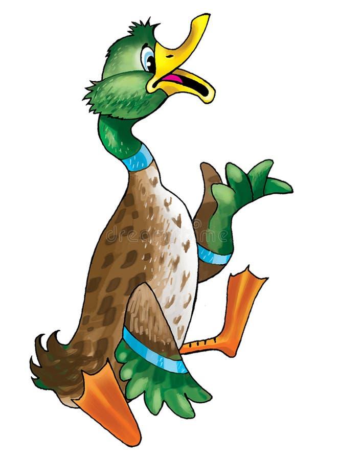 duck figure stock illustration
