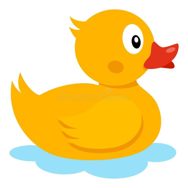 Duck Flat Icon Isolated de borracha no branco ilustração do vetor