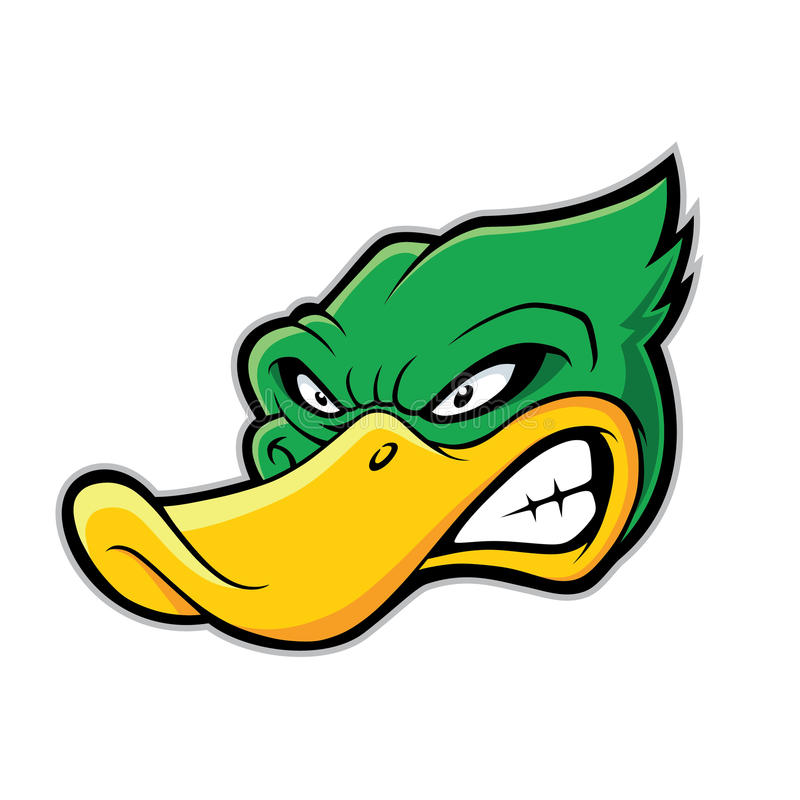 Angry duck clipart