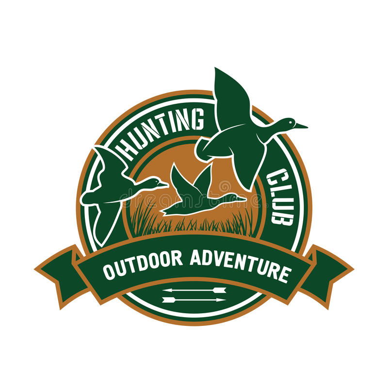 Free Duck Hunting Retro Badge For Hunters Club Design Royalty Free Stock Photos - 73195278