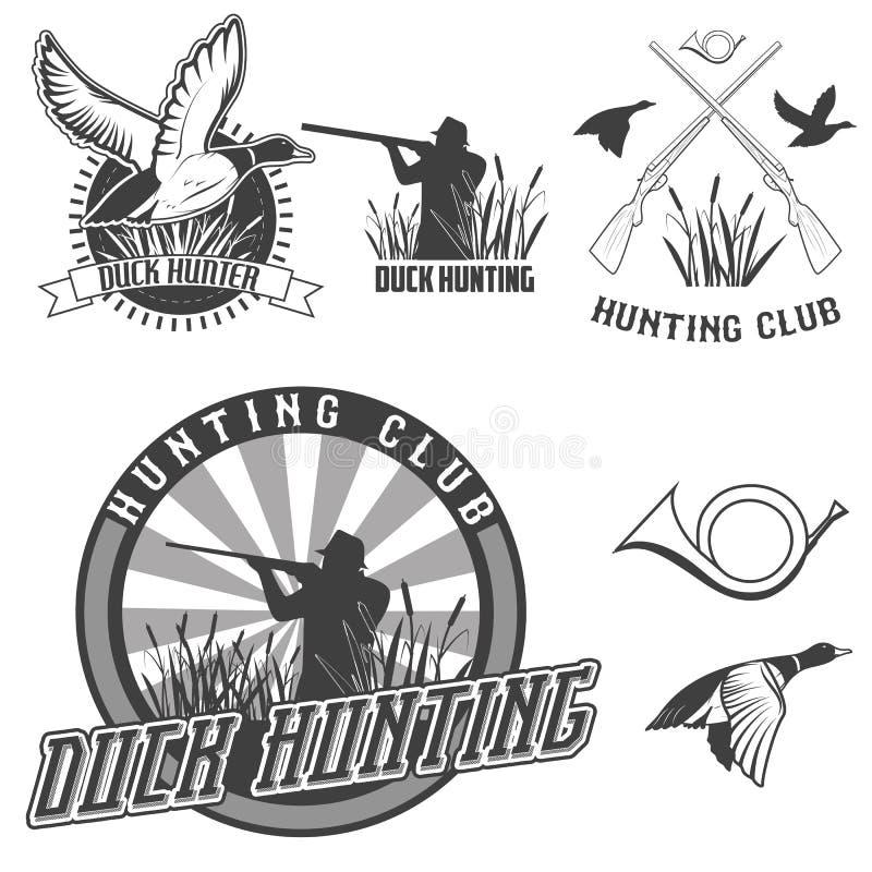 Duck hunting stock illustration
