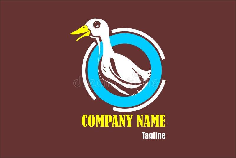 Duck Logo, Duck Company Logo, Goose Logo stock illustrationer