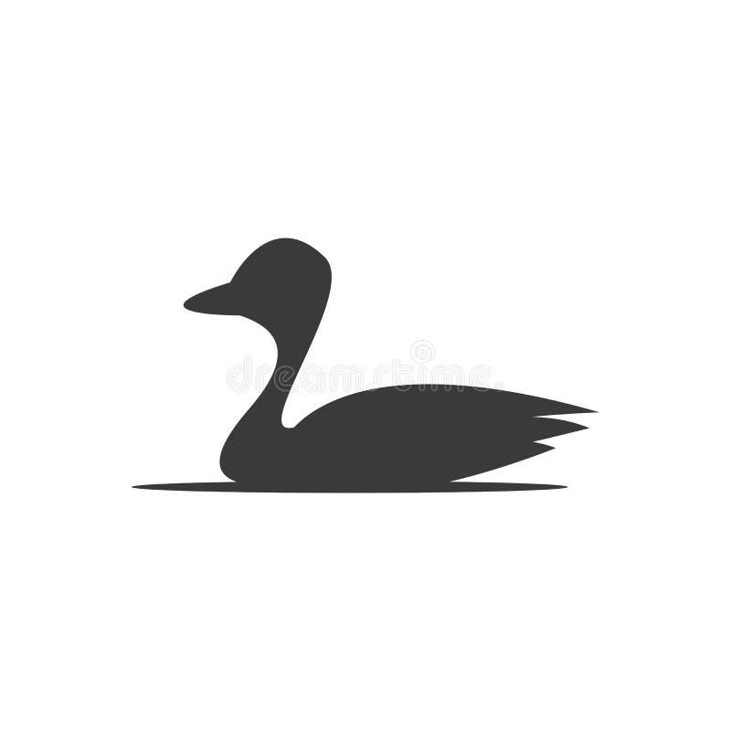Duck logo template royalty free illustration