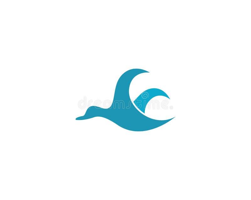 Duck logo template vector icon illustration stock illustration