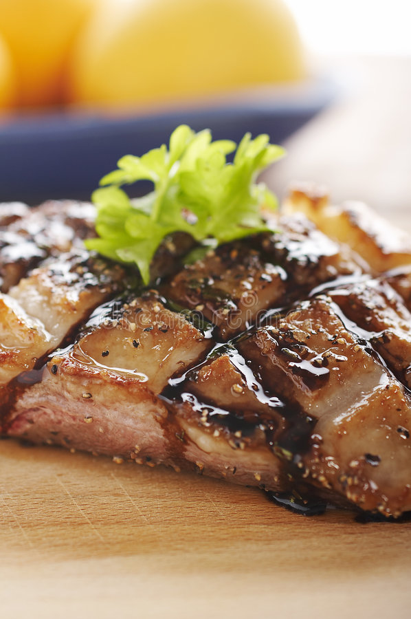 Download Duck meat on wood stock image. Image of balsamic, duck - 1715227
