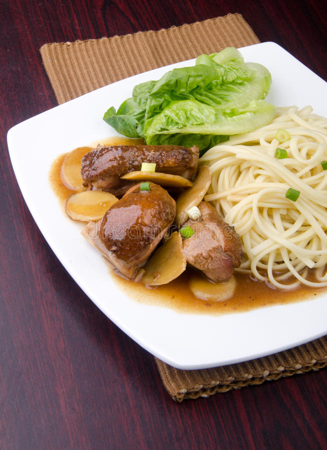 Duck noodle. asia food stock photos