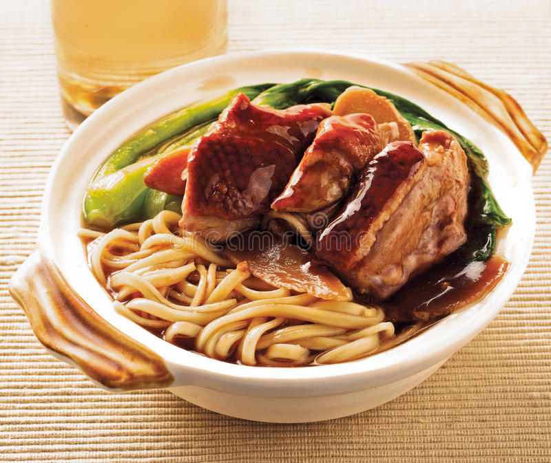 Duck noodle. food asia stock images