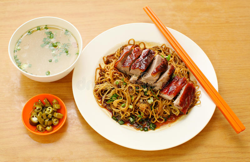 Duck noodle. food asia stock photo
