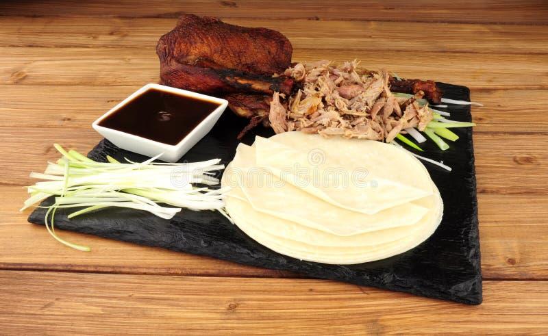 Duck And Pancakes aromatico cinese immagini stock libere da diritti