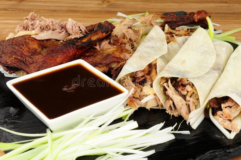 Duck And Pancakes aromatico cinese immagine stock