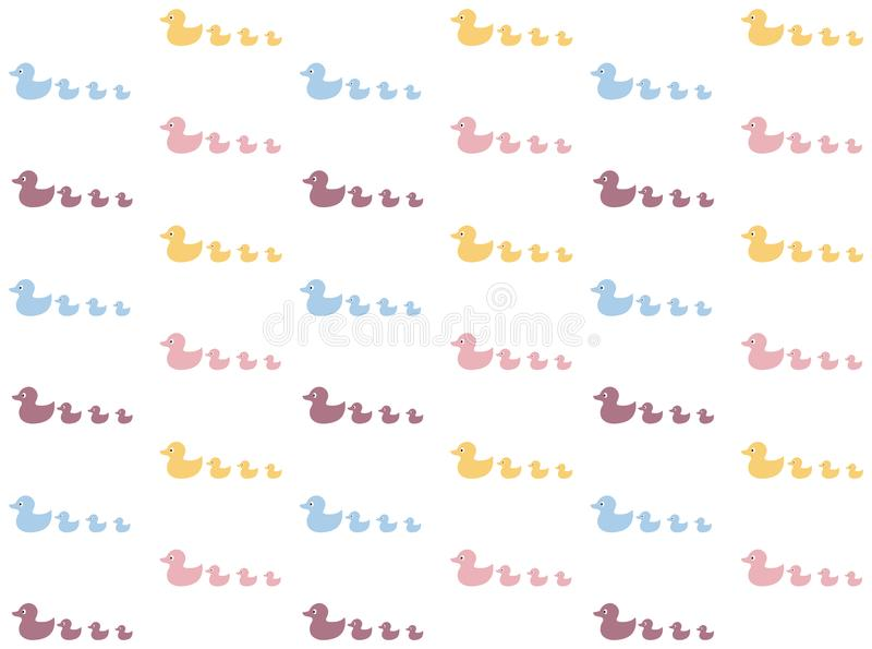 Duck pattern background. Cute background vector illustration