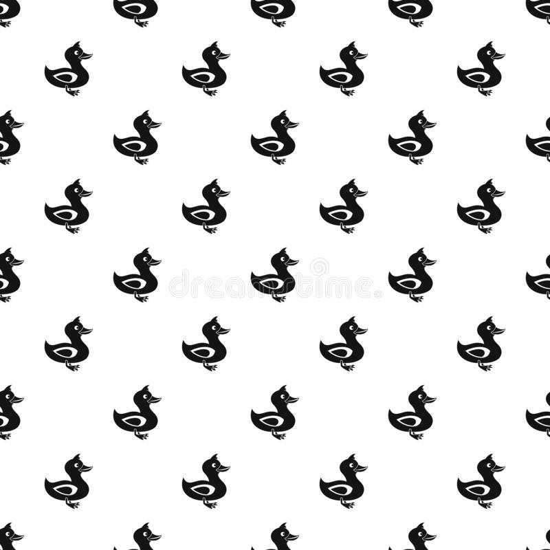 Duck pattern, simple style. Duck pattern. Simple illustration of duck pattern for web vector illustration
