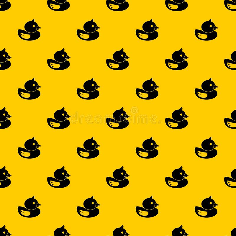 Duck pattern vector. Duck pattern seamless vector repeat geometric yellow for any design stock illustration