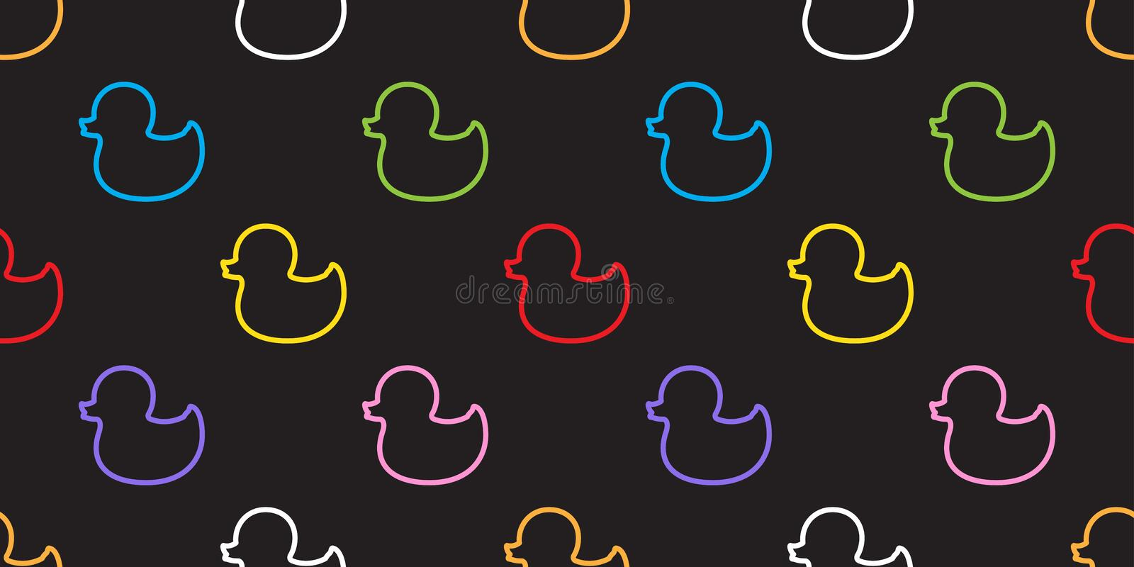 Duck Rubber Seamless Pattern vector isolated Background Wallpaper. Duck Rubber Seamless Pattern vector isolated tile Background Wallpaper royalty free illustration