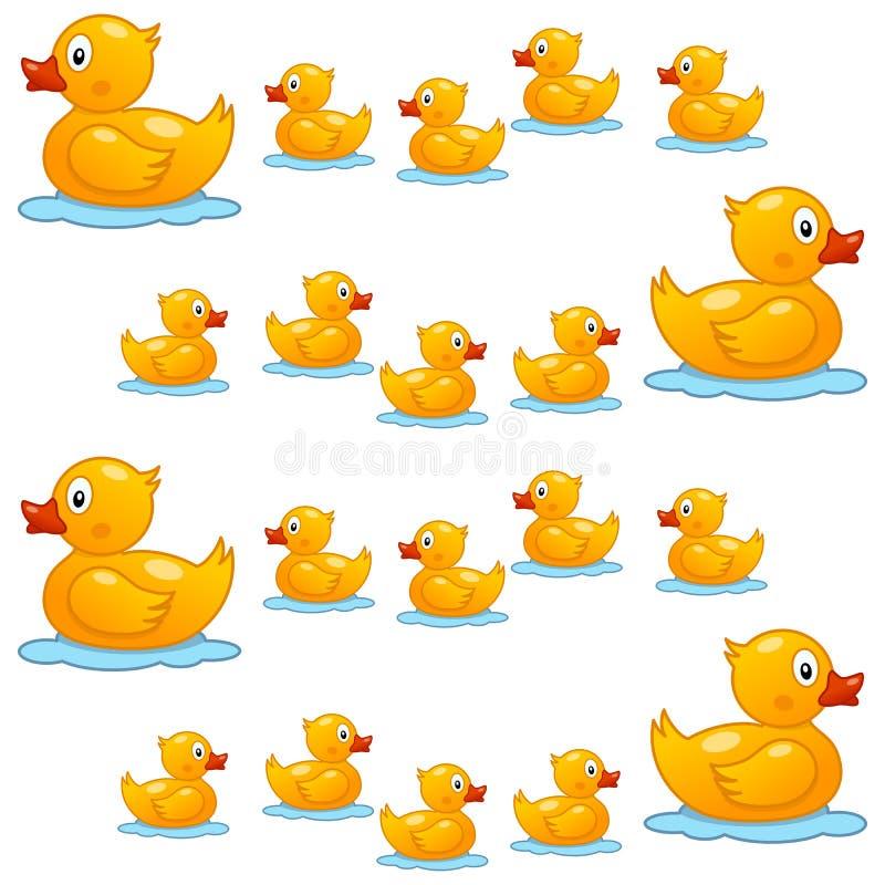 Duck Seamless Pattern en caoutchouc mignon illustration de vecteur